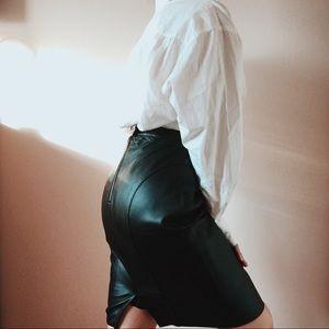 Dresses & Skirts - Genuine leather pencil skirt